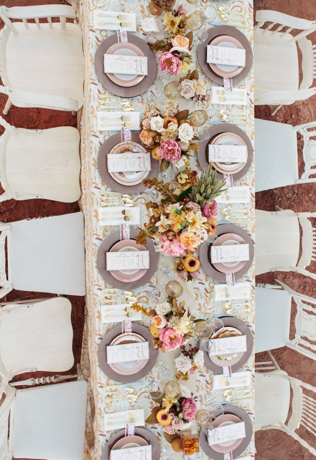 Rose Gold Wedding Reception Ideas
