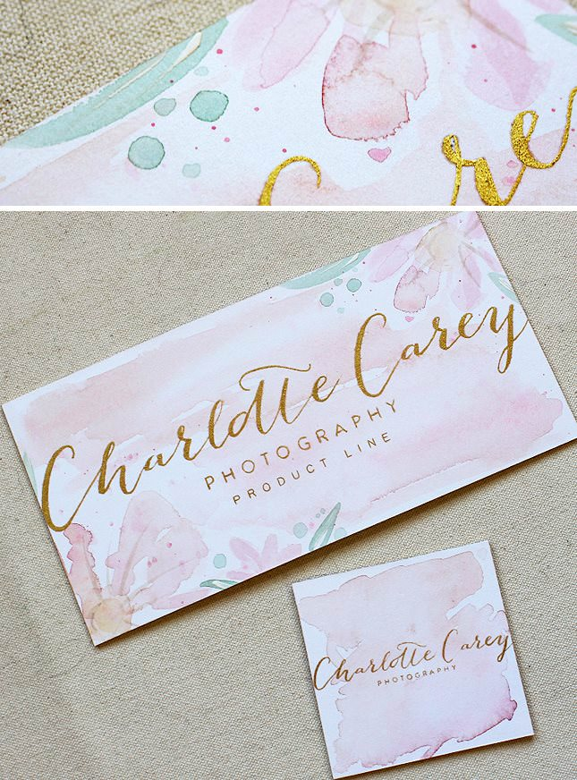 Maria C Gold Foil And Watercolor Branding