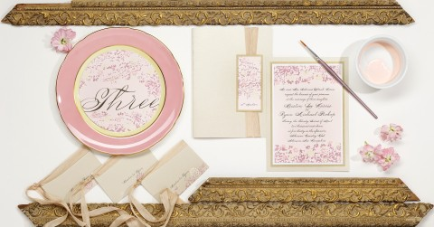 vintage-lace-leaves-pink-wedding-invitation