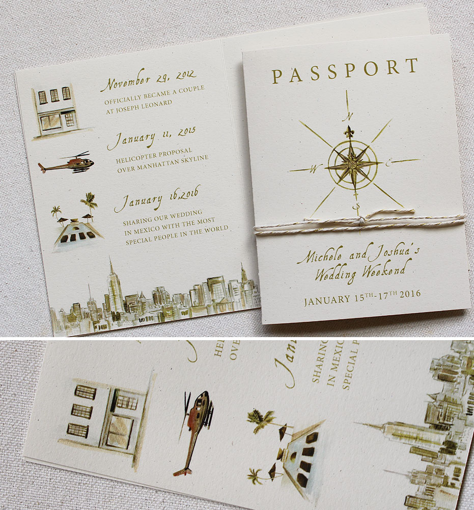 Can Tile Be Painted >> Michele G. - Hand Painted Passport Wedding