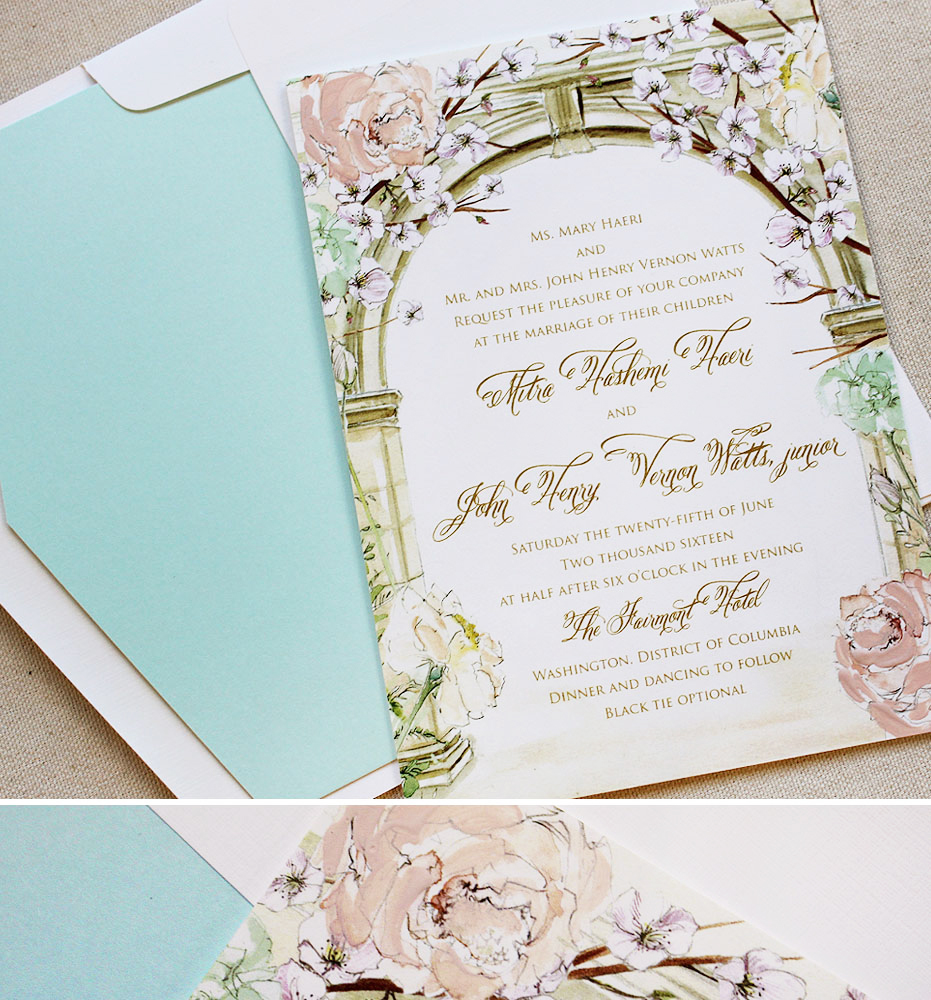 Mitra H. - Cherry Blossom Wedding InvitationsMomental Designs