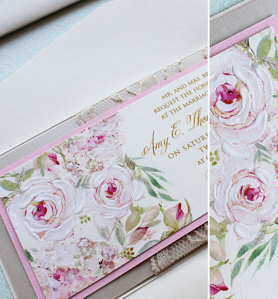 Romantic Floral and-Lace-Wedding-Invitations