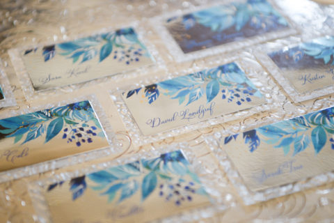 Watercolor Wedding Place Cards