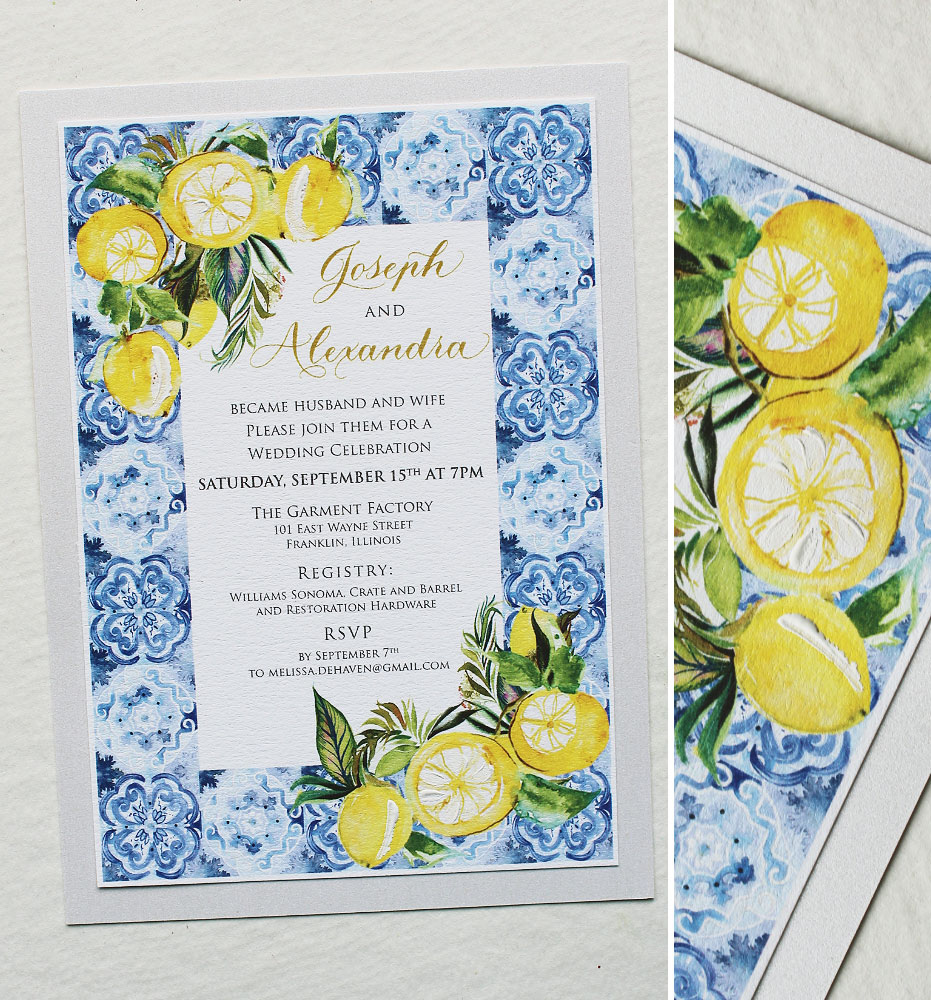 Allie D Watercolor Italy Destination Wedding Invitationmomental