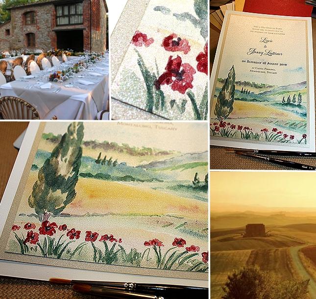 Tuscan landscape Custom Wedding Invitation