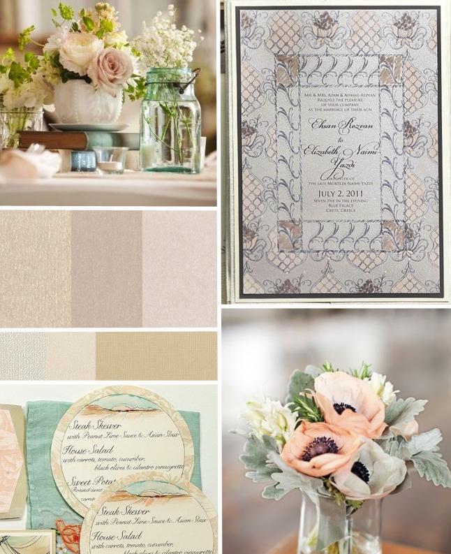 Inspirations Blush Ivory And Sage Rustic Elegant