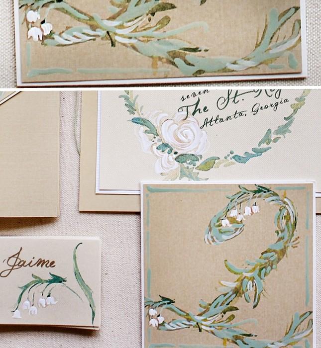 botanical-white-rose-hand-painted-wedding-invitation