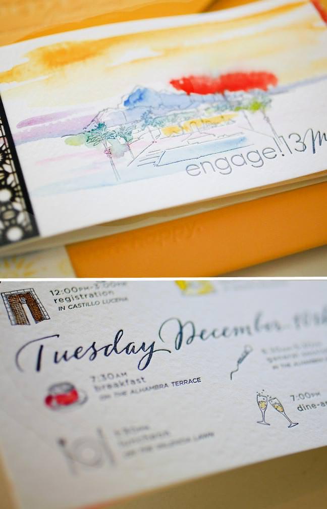 Timeline Wedding Itinierary Booklet