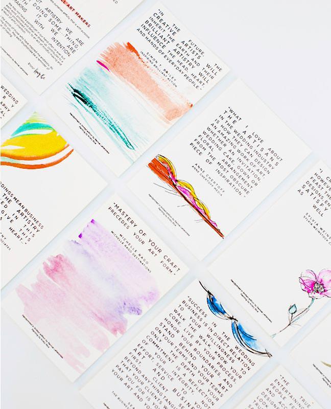 Watercolor Letterpress Notecards