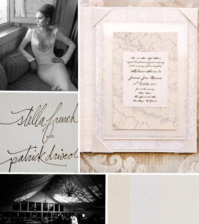 Modern White Wedding Invitations