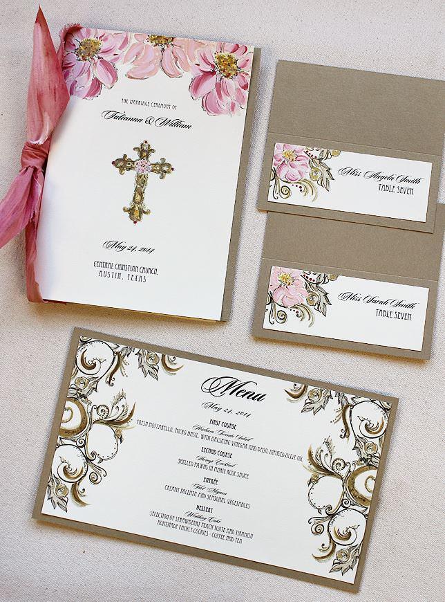 Gold Swirl Wedding Accessories