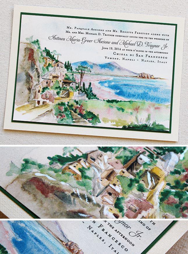 Italian Landscape Wedding Invitations