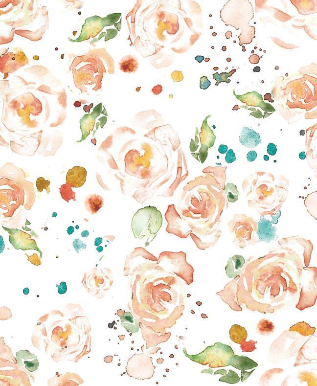 Peach Rose Wedding Invitations