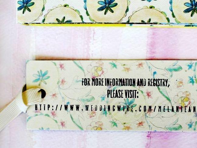 Watercolor Wedding Invitation Bookmark