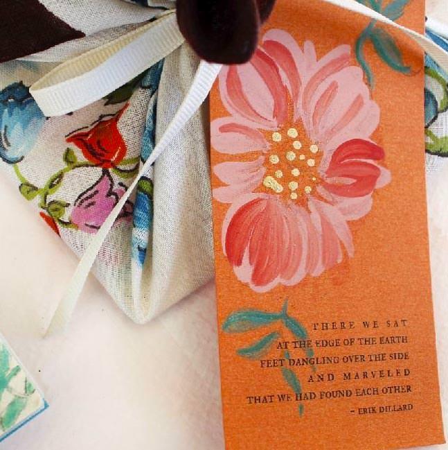 Hand Painted Poppy Flower