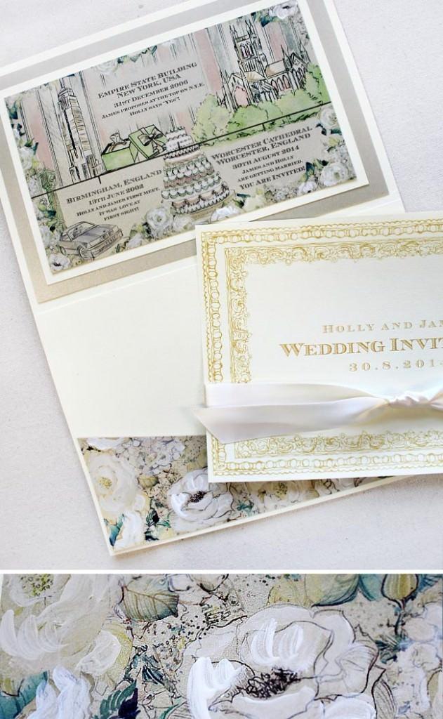 Laduree Inspired Wedding Invitation