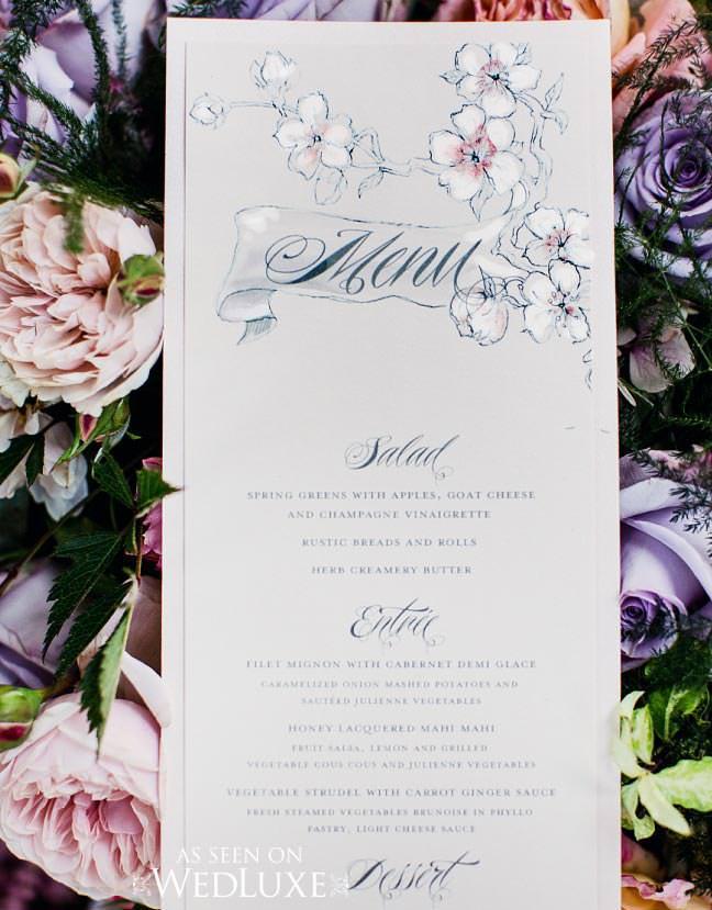 tattoo inspired wedding menu
