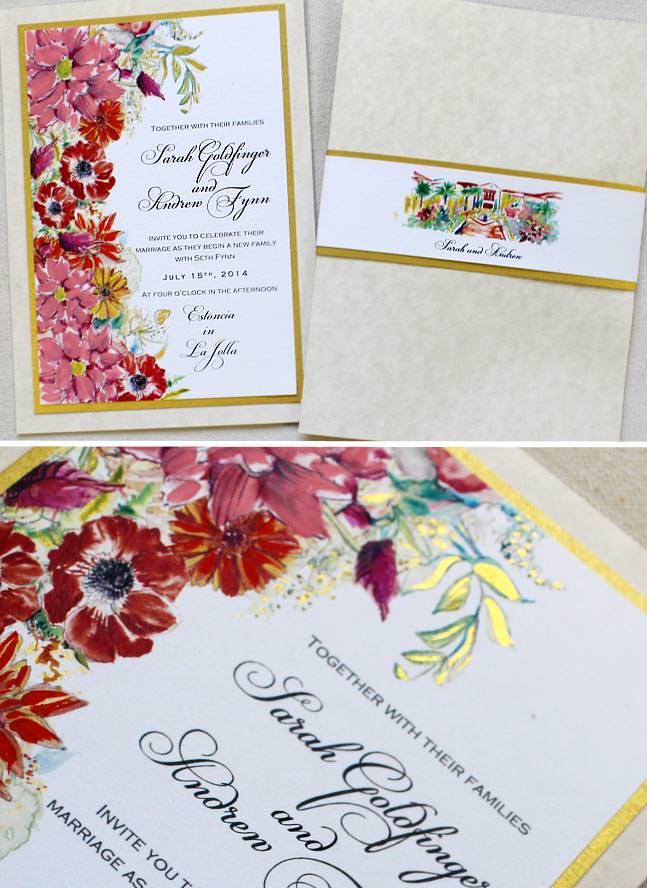 Bold Flower Wedding Invitation