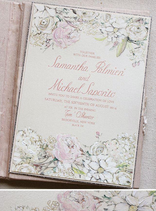 Pastel Floral Wedding Invitations