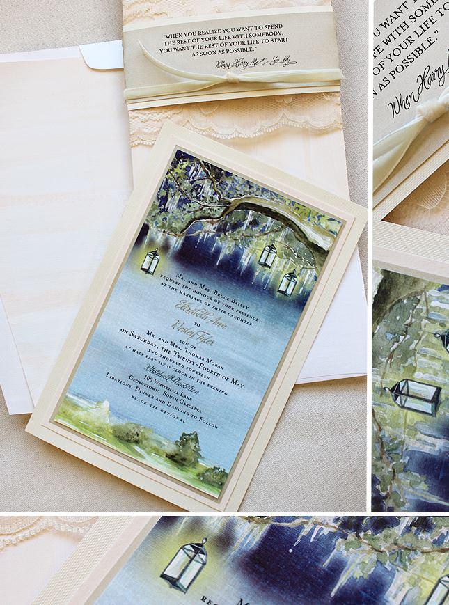 South Carolina Tree Wedding Invitations
