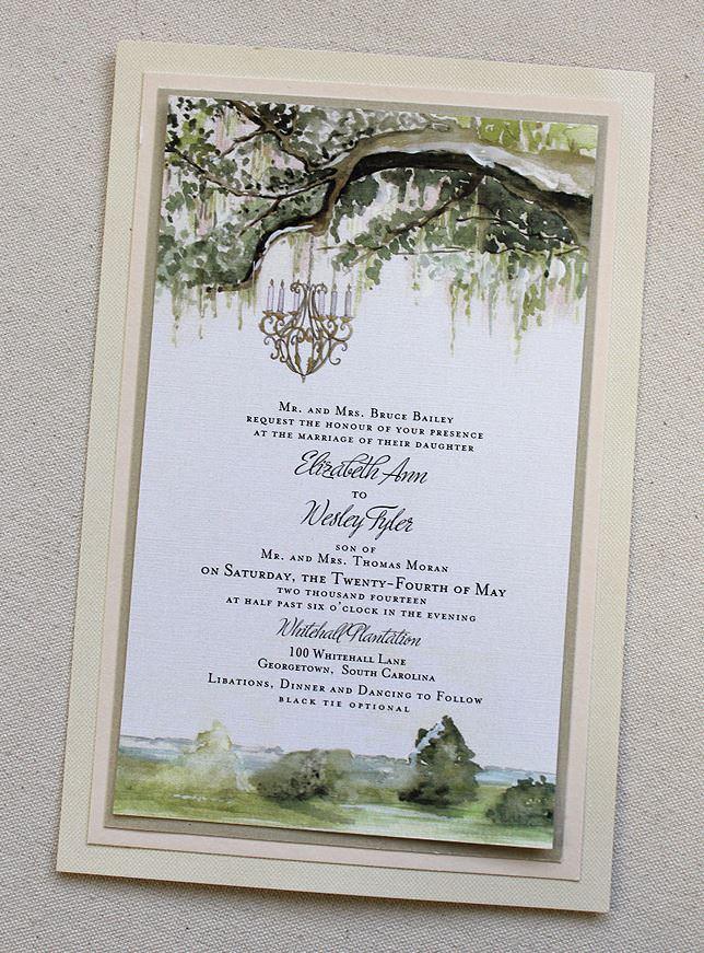 Watercolor Landscape Wedding Invitations