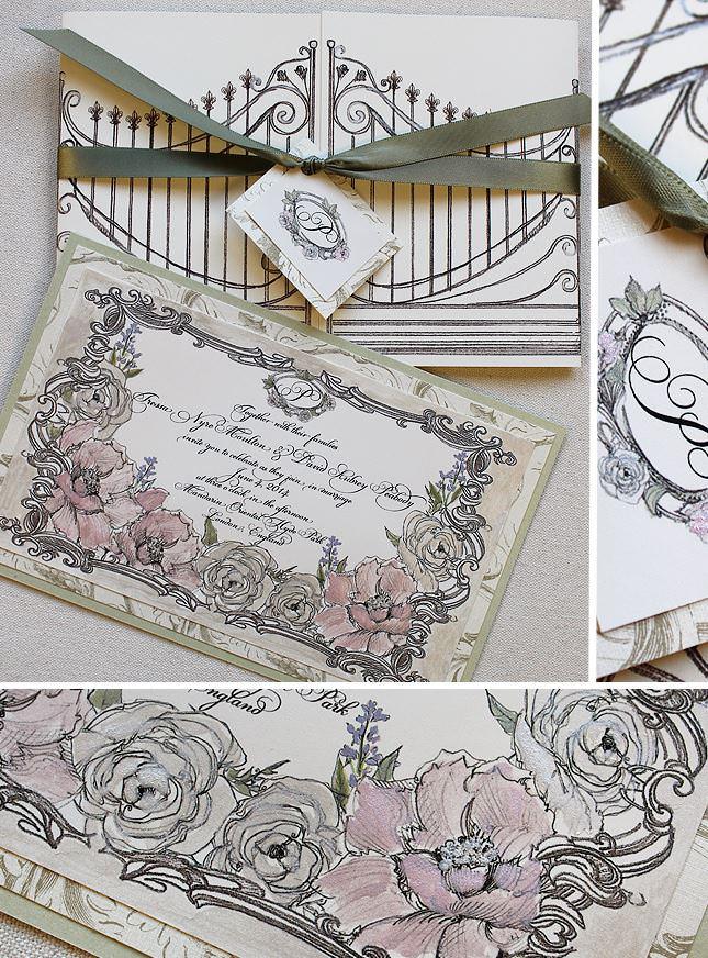 Vingate Floral Frame Wedding Invitations