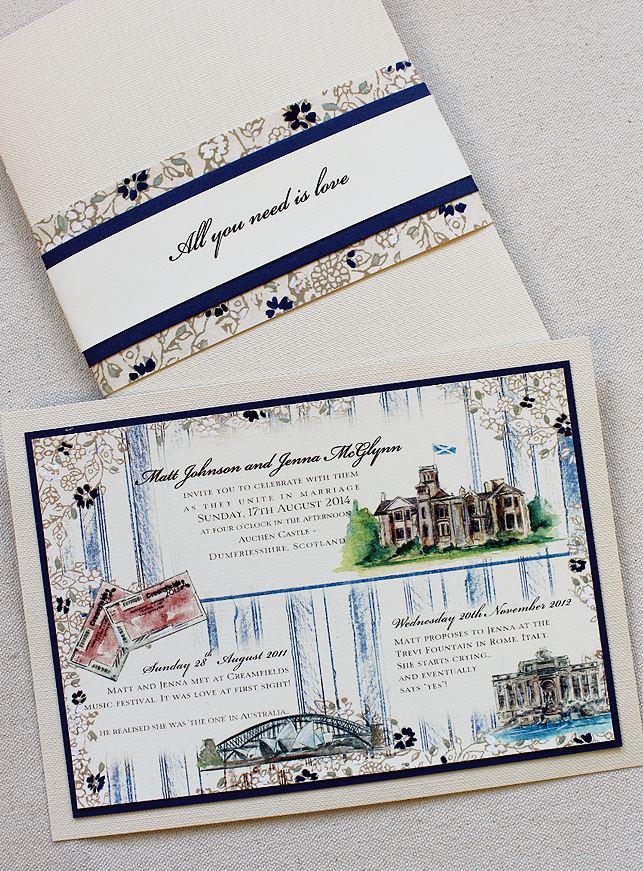 Custom Timeline Wedding Invitations