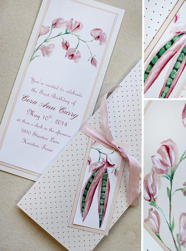 Watercolor Floral Birthday Invitations