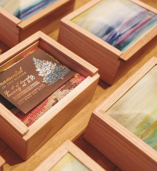Wood Watercolor Box
