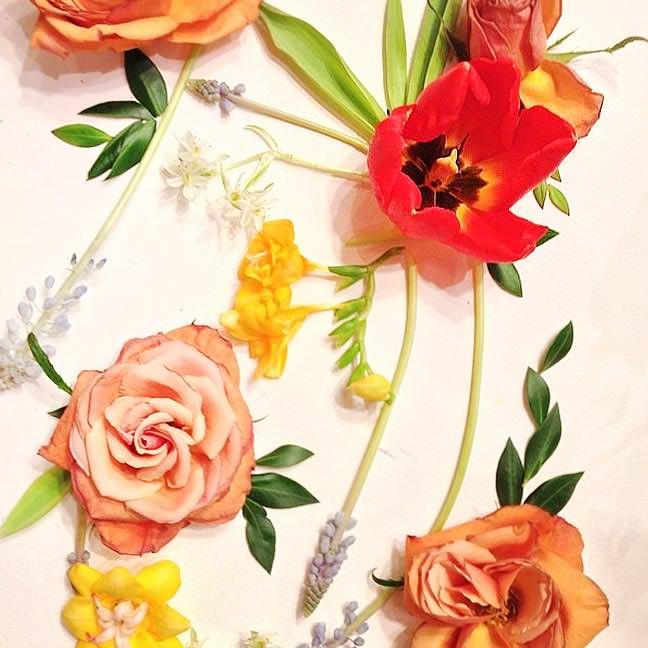 Tulip, Jasmine and Garden Rose Composition