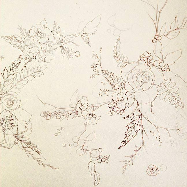 Delicate Pencil Sketch Pattern
