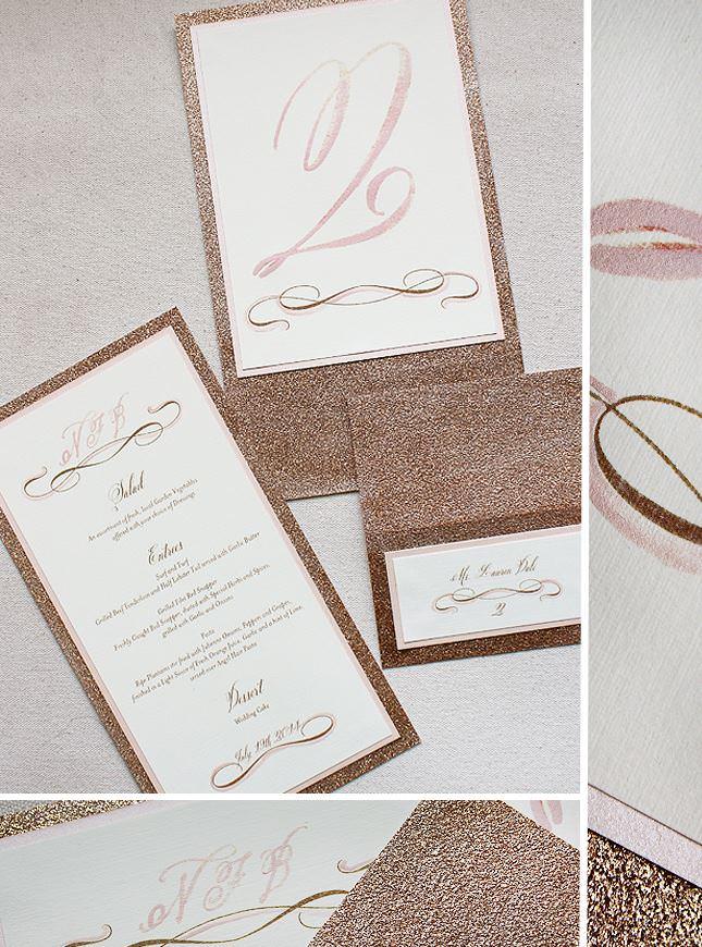 Custom Glitter Wedding Accessories