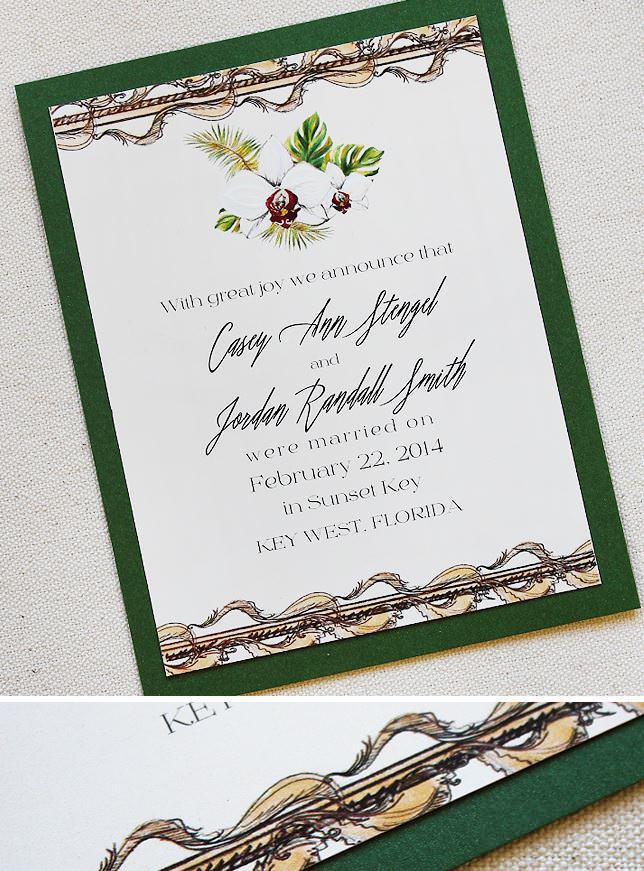 White Orchid Wedding Invitations