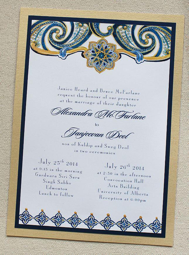 Paisley Pattern Wedding Invitations