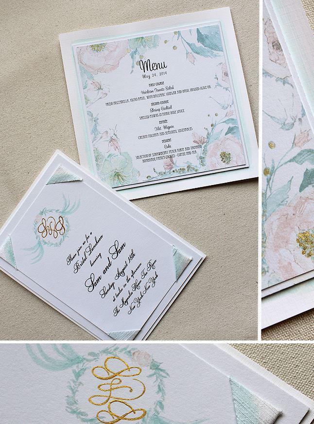 Pastel Floral Wedding Accessories