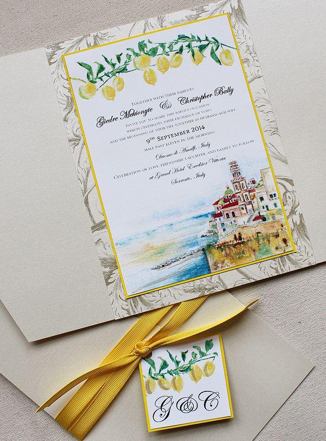 Italian Inspired Wedding Stationery