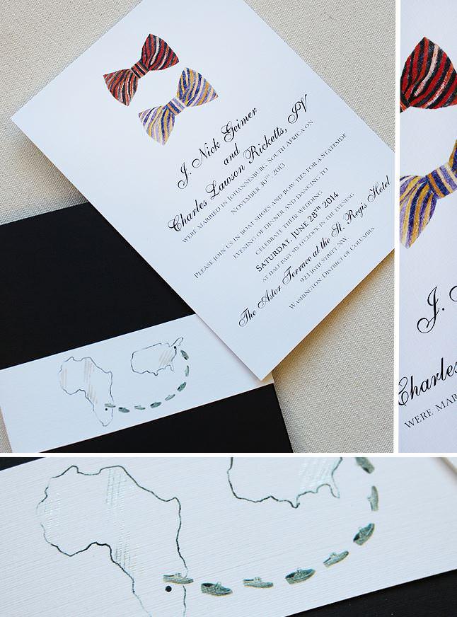 Bowtie Wedding Invitations