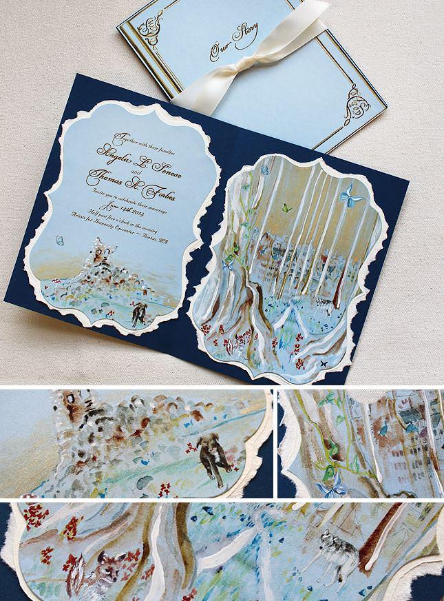 Pin It Storybook Wedding Invitations