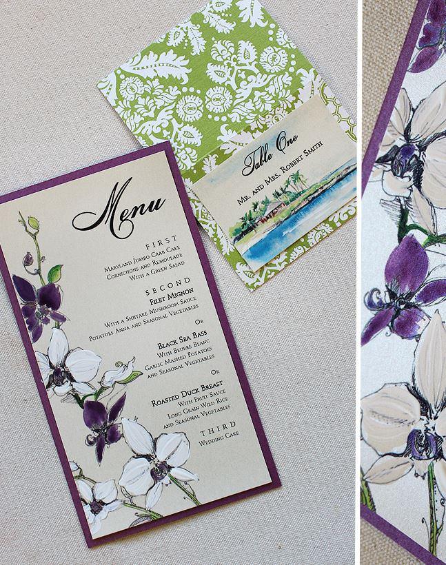 Purple Orchid Wedding Accessories