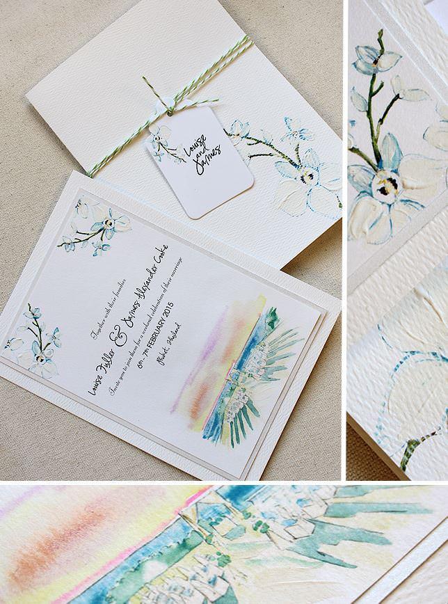 Thaliand Landscape Wedding Invitations