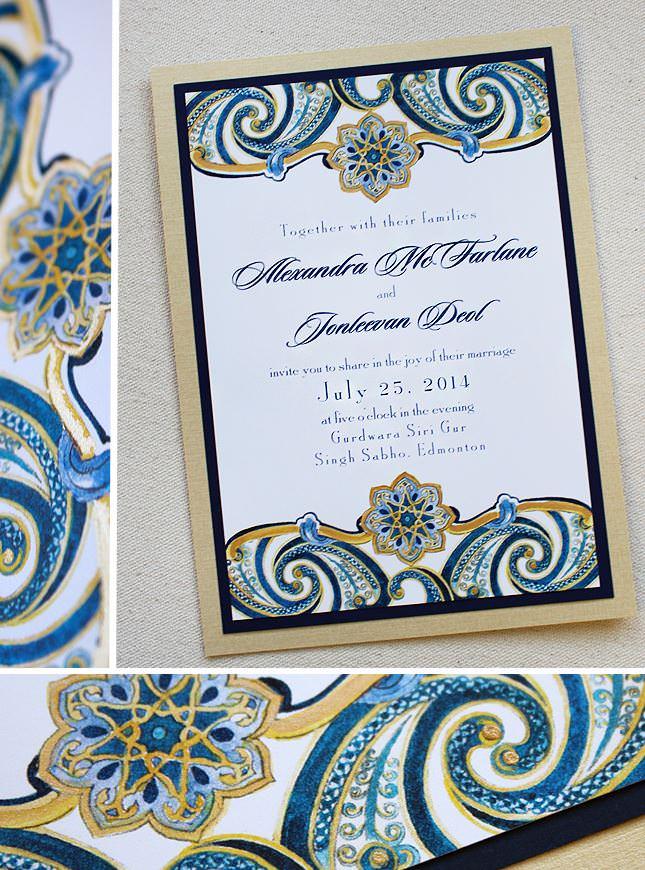 Indian Inspired Wedding Invitations