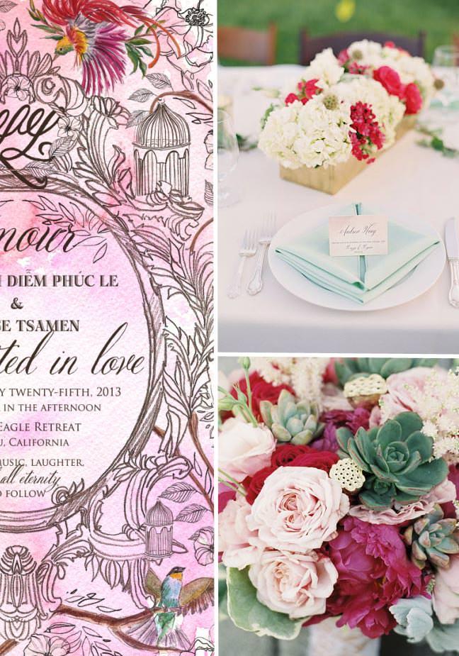 Chinoiserie Wedding Invitations