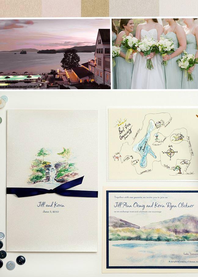 Lakeside Wedding Invitations