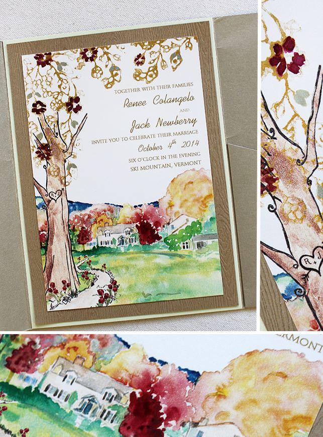 Autumn Tree Wedding Invitations