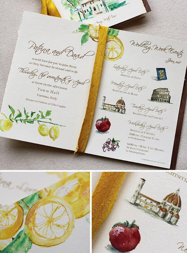 Italian Inspired Wedding Invitations