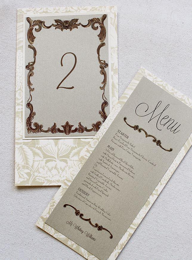 Gold Frame Wedding Accessories