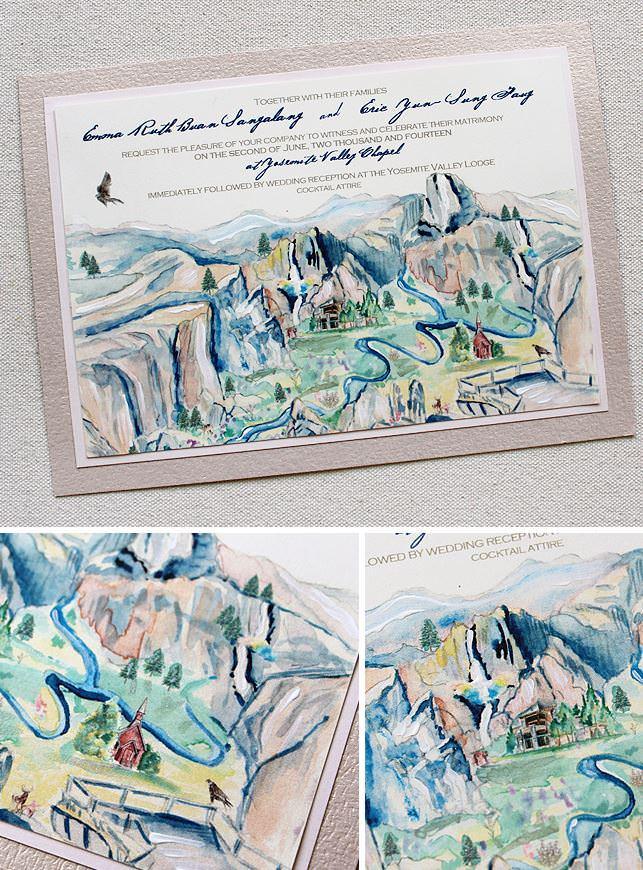 Yosemite Wedding Invitations