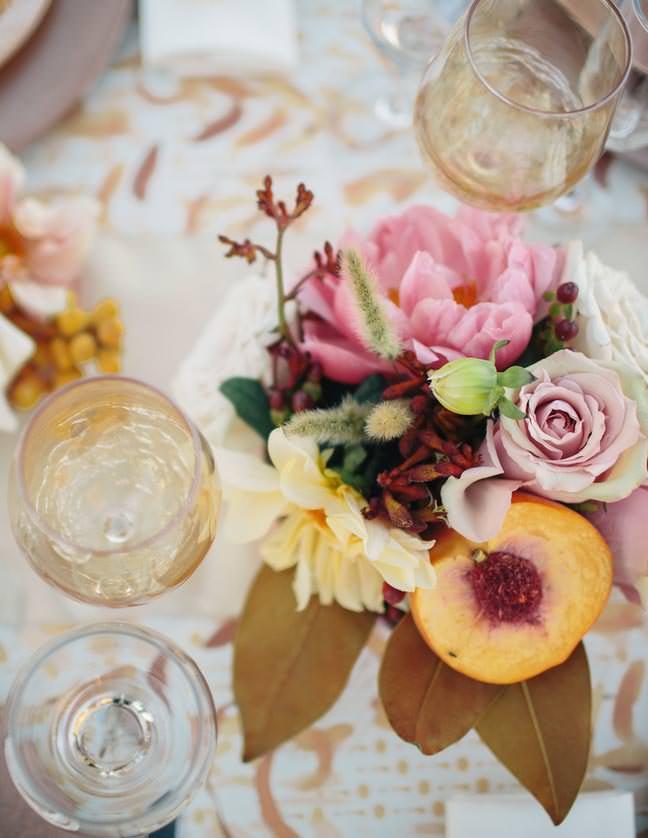 Peach and Pinks Wedding Flowers