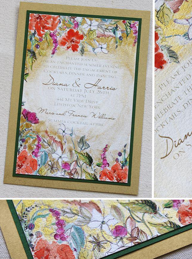 Midsummer Night's Dream Wedding Invitation