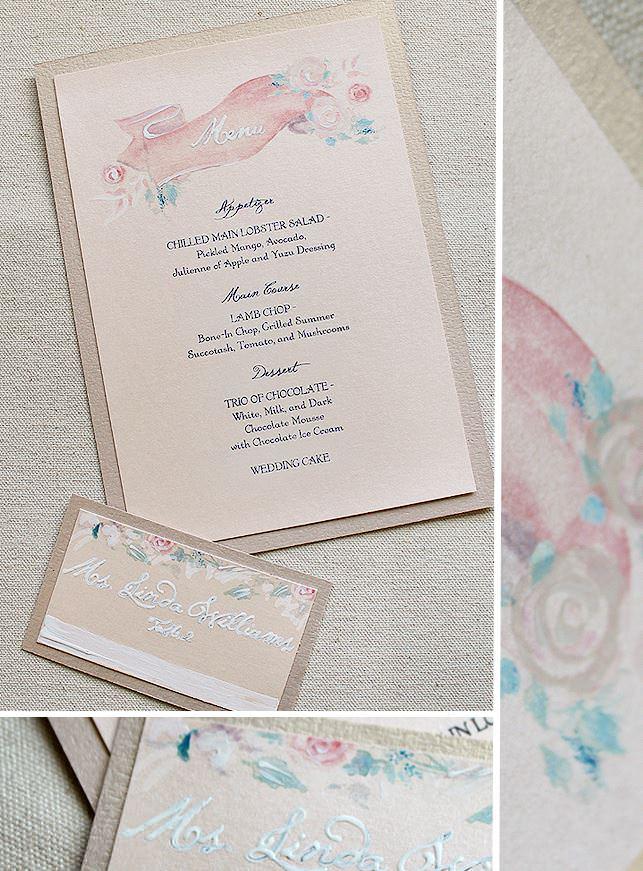 Watercolor Wedding Accessories